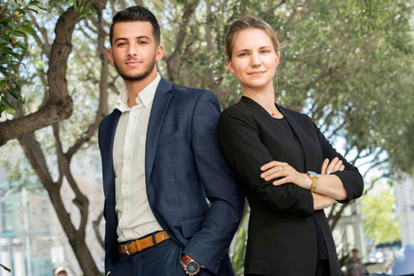 LL.M. students Ismaël H. Najar and Lisa Schnackenbeck are excited about their future legal careers after studying at UC Hastings.