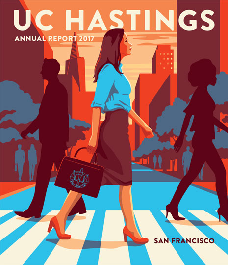 Cover to the UC Hastings Annual Report 2017