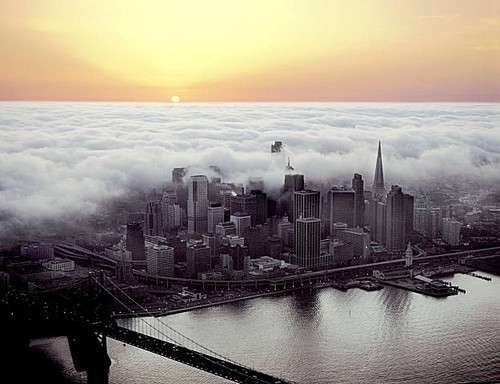 Photo of fog and sun in San Francisco