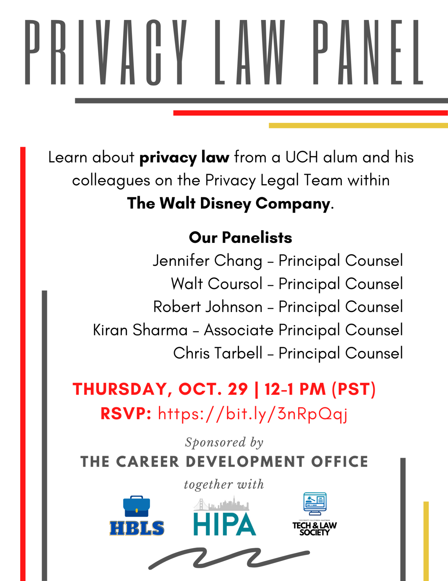 Privacy Law Panel Flyer