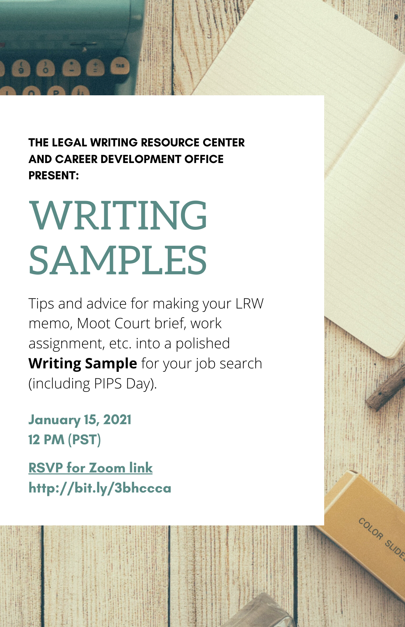writing sample flyer