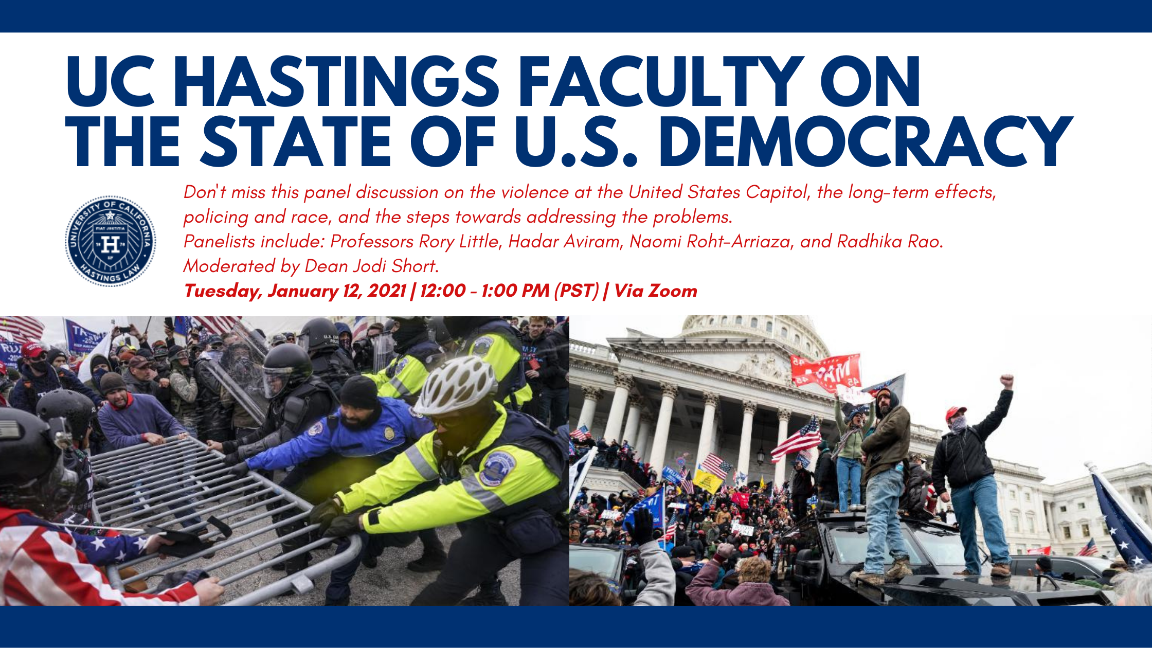 UC Hastings Faculty on the State of U.S. Democracy