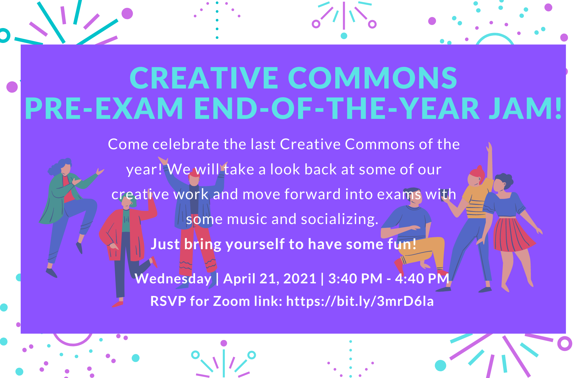 Come celebrate our last creative commons of the year.