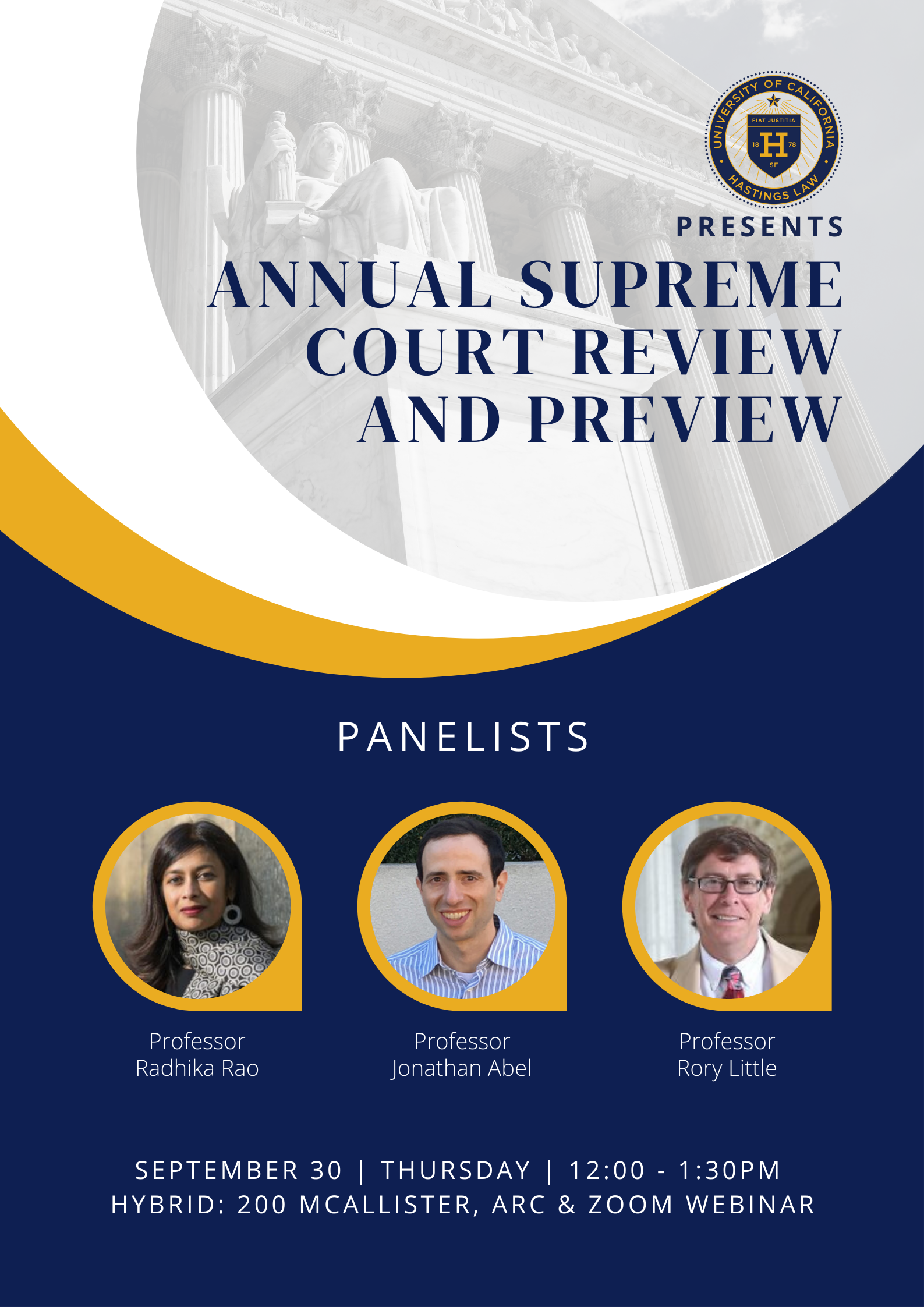 Annual Supreme Court Review and Preview event flyer